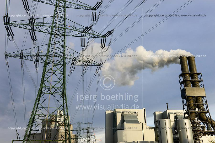 GERMANY Hamburg Moorburg, Vattenfall coal power station / DEUTSCHLAND Hamburg Moorburg, Vattenfall Kohlekraftwerk