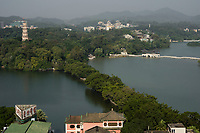 Huizhou, Guangdong province, China - A general view of the West Lake, October 2014.