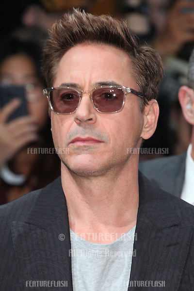 Robert Downey Jr arriving for the Avengers: Age Of Ultron premiere, at Westfield Shepherd's Bush, London. 21/04/2015 Picture by: Alexandra Glen / Featureflash
