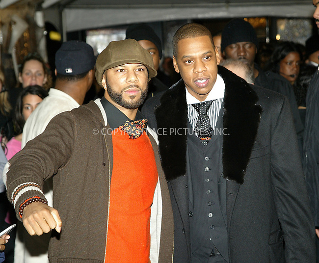 WWW.ACEPIXS.COM . . . . .  ....NEW YORK, NOVEMBER 4, 2004....Jay-Z and Common attend the release party of Jay-Z's new album 'Fade to Black' in NYC.....Please byline: Ian Wingfield - ACE PICTURES..... *** ***..Ace Pictures, Inc:  ..Alecsey Boldeskul (646) 267-6913 ..Philip Vaughan (646) 769-0430..e-mail: info@acepixs.com..web: http://www.acepixs.com