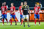 Solna 2013-09-30 Fotboll Allsvenskan AIK - &Ouml;sters IF :  <br /> AIK 4 Nils-Eric Johansson ser nedst&auml;md ut efter att &Ouml;ster 23 Alhaji Gero kvitterat till 1-1<br /> (Foto: Kenta J&ouml;nsson) Nyckelord:  depp besviken besvikelse sorg ledsen deppig nedst&auml;md uppgiven sad disappointment disappointed dejected