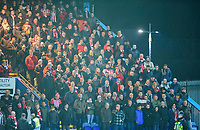 Lincoln City fans observe a minutes silence before kick off<br /> <br /> Photographer Chris Vaughan/CameraSport<br /> <br /> The EFL Sky Bet League Two - Mansfield Town v Lincoln City - Monday 18th March 2019 - Field Mill - Mansfield<br /> <br /> World Copyright © 2019 CameraSport. All rights reserved. 43 Linden Ave. Countesthorpe. Leicester. England. LE8 5PG - Tel: +44 (0) 116 277 4147 - admin@camerasport.com - www.camerasport.com