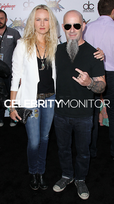 LOS ANGELES, CA, USA - APRIL 23: Pearl Aday, Scott Ian at the 2014 Revolver Golden Gods Award Show held at Club Nokia on April 23, 2014 in Los Angeles, California, United States. (Photo by Xavier Collin/Celebrity Monitor)