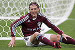 7 April 2007: Colorado's Nicolas Hernandez ends up beside the net, after trying to reach a cross that was picked off by United goalkeeper Troy Perkins (not pictured). The Colorado Rapids defeated DC United 2-1 at Dick's Sporting Goods Park in Denver, Colorado in the opening game of the MLS regular season.