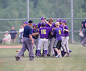 Pavilion Golden Gophers celebrate the Section V Class-CC Championship on June 1, 2007.  (Copyright Mike Janes Photography)