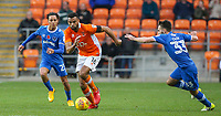 Blackpool's Curtis Tilt gets away from Portsmouth's Kyle Bennett and Ben Close<br /> <br /> Photographer Alex Dodd/CameraSport<br /> <br /> The EFL Sky Bet League One - Blackpool v Portsmouth - Saturday 11th November 2017 - Bloomfield Road - Blackpool<br /> <br /> World Copyright &copy; 2017 CameraSport. All rights reserved. 43 Linden Ave. Countesthorpe. Leicester. England. LE8 5PG - Tel: +44 (0) 116 277 4147 - admin@camerasport.com - www.camerasport.com