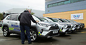 06/09/19<br /> <br /> L/R:  Roy Munson (Toyota Derby).<br /> <br /> DHU Health Care take delivery of six Toyota RAV 4 at their Derby offices.<br /> <br /> All Rights Reserved, F Stop Press Ltd +44 (0)7765 242650 www.fstoppress.com rod@fstoppress.com