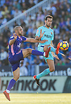 Sergio Busquets Burgos of FC Barcelona (R) fights for the ball with Nourredine Amrabat of CD Leganes (L) during the La Liga 2017-18 match between CD Leganes vs FC Barcelona at Estadio Municipal Butarque on November 18 2017 in Leganes, Spain. Photo by Diego Gonzalez / Power Sport Images