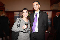 Repro Free.from left to right:Lara velasco Lanzarote Tourist Board and Carlos Bendodo Danino Sales Coordinator Leiisure & Business Andalucia .Travel Extra,Travel Journalist of the Year Awards at the Thomas Prior House Ballsbridge. The event which was sponsored by The Spanish Tourist board gave out 12 awards for different catagories. .This year saw a huge increase in the number of submissions from previous years, displaying the creativity and continuning innovation of travel and tourism journalism in Ireland..Collins Photos 25/1/13