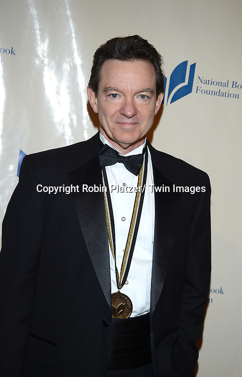 Lawrence Wright attends the 2013 National Book Awards Dinner and Ceremony on November 20, 2013 at Cipriani Wall Street in New York City.