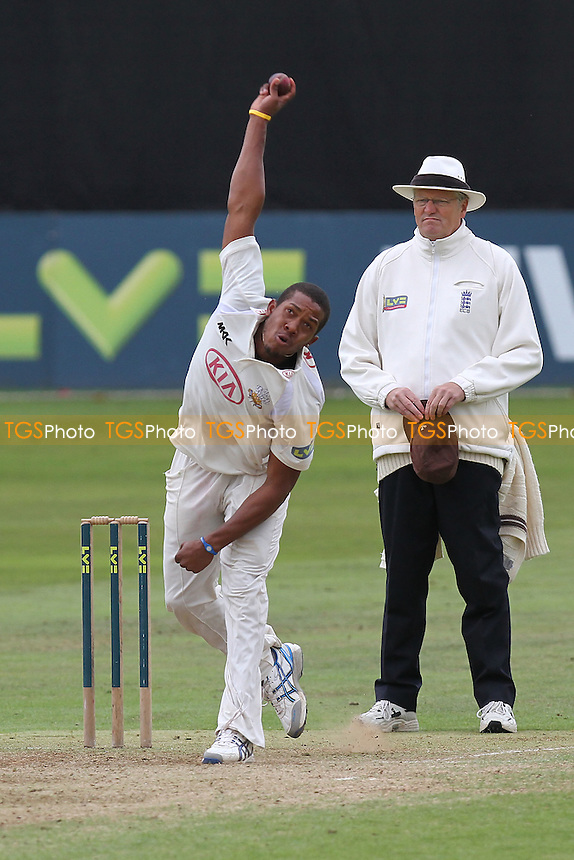 Chris Jordan in bowling action for Surrey - Essex CCC vs Surrey CCC - LV County Championship Division Two Cricket at The Ford County Ground, Chelmsford, Essex - 08/09/11 - MANDATORY CREDIT: Gavin Ellis/TGSPHOTO - Self billing applies where appropriate - 0845 094 6026 - contact@tgsphoto.co.uk - NO UNPAID USE