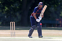 Aron Nijjar in batting action for Wanstead during Wanstead and Snaresbrook CC vs Hornchurch CC, Shepherd Neame Essex League Cricket at Overton Drive on 30th June 2018