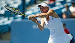 Caroline Wozniacki (DEN) advances against Agnieszka Radwanska (POL) by 64 76(5) at the Western & Southern Open in Mason, OH on August 15, 2014.