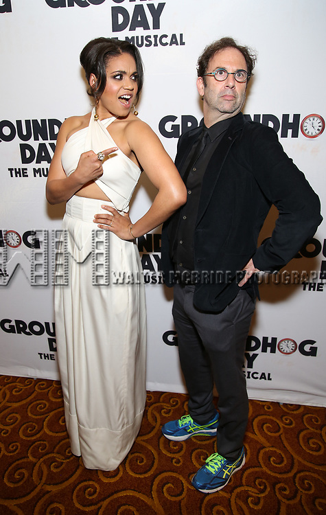 Barrett Doss and Danny Rubin attend the Broadway Opening Night After Party for 'Groundhog Day' at Gotham Hall on April 17, 2017 in New York City.