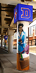 Vincentian artwork, Lincoln Park Campus; murals, elevated, Fullerton Station, CTA, Chicago Transit Authority, Brother Mark Elder (DePaul University/Jamie Moncrief)