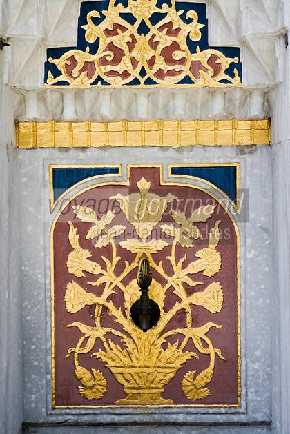 Europe/Turquie/Istanbul :  Fontaine de la bibliothèque du Sultan Ahmet du Palais de Tokapi