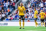 Stockholm 2014-07-07 Fotboll Allsvenskan Djurg&aring;rdens IF - IF Elfsborg :  <br /> Elfsborgs Sebastian Holm&eacute;n reagerar mot linjedomare i samband med att Djurg&aring;rden f&aring;r en straff i den f&ouml;rsta halvleken<br /> (Foto: Kenta J&ouml;nsson) Nyckelord:  Djurg&aring;rden DIF Tele2 Arena Elfsborg IFE diskutera argumentera diskussion argumentation argument discuss domare referee ref arg f&ouml;rbannad ilsk ilsken sur tjurig angry