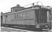 #215 baggage &amp; coach combine with cupola and handrail on roof.<br /> D&amp;RGW  Alamosa, CO  Taken by Rogers, Donald E. A. - 7/28/1935