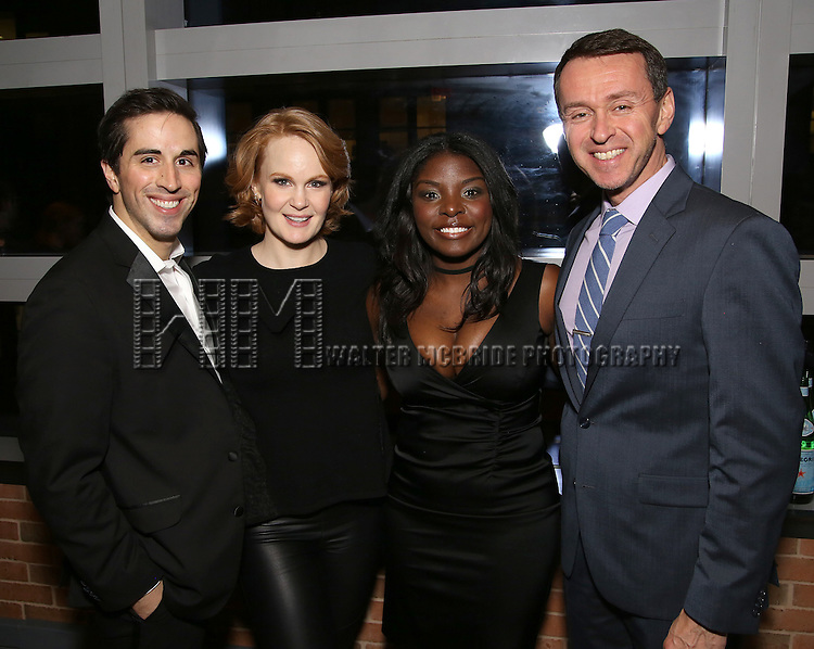 Matthew Scott, Kate Baldwin, Joaquina Kalukango and Andrew Lippa attend the DGF Reception for Andrew Lippa & Friends at Landmarc on February 1, 2017 in New York City.