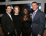 Matthew Scott, Kate Baldwin, Joaquina Kalukango and Andrew Lippa attend the DGF Reception for Andrew Lippa & Friends at Landmarc on February 1, 2017 in New York City.
