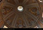 Baroque Dome interior Gilded Floral motif Stars Marian Medallions Antoine Derizet 1741 Santissimo Nome di Maria Trajan's Forum Rome