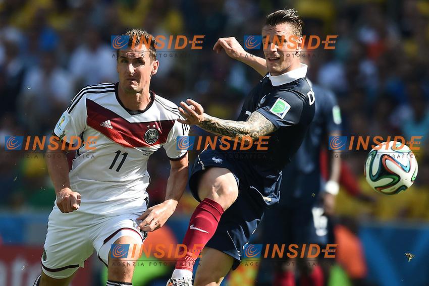 Miroslav Klose Germany, Mathieu Debuchy France <br /> Rio de Janeiro (Brasile) 04-07-2014 Maracana Quarter-Finals / Quarti di finale France - Germany / Francia - Germania. Football 2014 Fifa World Cup Brazil - Campionato del Mondo di Calcio  Brasile 2014 <br /> Foto Insidefoto