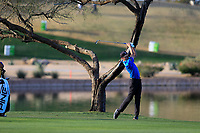 Mackenzie Hughes (CAN) on the 15th fairway during the 2nd round of the Waste Management Phoenix Open, TPC Scottsdale, Scottsdale, Arisona, USA. 01/02/2019.<br /> Picture Fran Caffrey / Golffile.ie<br /> <br /> All photo usage must carry mandatory copyright credit (© Golffile | Fran Caffrey)