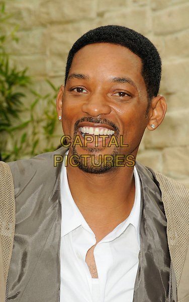 "WILL SMITH.""The Karate Kid"" Los Angeles Premiere held at Mann's Village Theatre, Westwood, California, USA..June 7th 2010.headshot portrait beige white goatee facial hair mouth open.CAP/ROT.©Lee Roth/Capital Pictures"