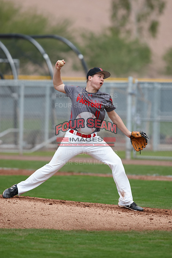 Hunter Moody (11) of Kell High School in Marietta, Georgia during the Under Armour All-American Pre-Season Tournament presented by Baseball Factory on January 15, 2017 at Sloan Park in Mesa, Arizona.  (Kevin C. Cox/MJP/Four Seam Images)