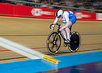 26th January 2020; National Cycling Centre, Manchester, Lancashire, England; HSBC British Cycling Track Championships;  Female 500m TT final Lauren Bell slow pan shot