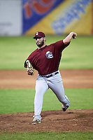 Mahoning Valley Scrappers relief pitcher Kenny Mathews (51) during a game against the Batavia Muckdogs on August 19, 2016 at Dwyer Stadium in Batavia, New York.  Mahoning Valley defeated Batavia 9-2.  (Mike Janes/Four Seam Images)
