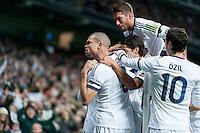Real Madrid Celebrates Cristiano Ronaldo Goal
