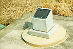 A memorial marking the site of the 1976 Axe Murder Incident in which two US soldiers were killed by North Korean soldiers in the joint security area in the village of Panmunjom between North and South Korea.  Tensions have been steadily rising since North Korea detonated a nuclear device in February.  The United States has repositioned several military assets in support of South Korea.