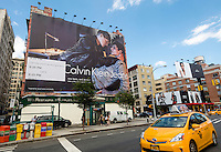 New York, NY - Billboard advertisement for Calvin Klein's new Raw campaign featuring a gay couple, in the Noho neighborhood of Manhattan
