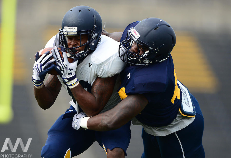 Aug 15, 2012; Toledo, OH, USA; during practice at the Glass Bowl. Mandatory Credit: Andrew Weber-US Presswire