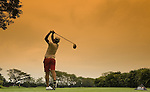 Yani Tseng of Taiwan plays tee shot on the par five 13th hole during the first round of HSBC Women's Champions at the Tanah Merah Country Club on March 5, 2009 in Singapore. Photo by Victor Fraile / The Power of Sport Images