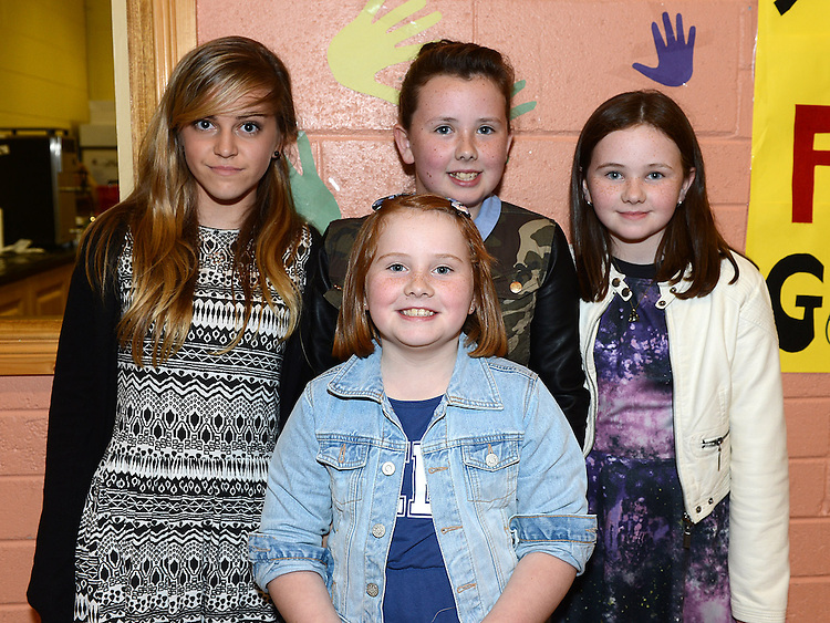 Sophie Heavey, Callie, Tigan and Jaye Reilly pictured at the Englishby family gathering held in Mattock Rangers Community Centre. Photo:Colin Bell/pressphotos.ie