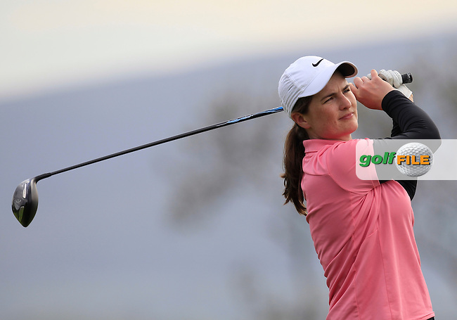 Danielle McVeigh (RCD Ladies) on the 2nd tee during Round 2 of the Irish Women's Open Strokeplay Championship at Dun Laoghaire Golf Club on Saturday 23rd May 2015.<br /> Picture:  Thos Caffrey / www.golffile.ie