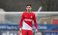 Julien Serrano of AS Monaco FC Youth during the UEFA Youth League round of 16 match between Tottenham Hotspur U19 and Monaco at Lamex Stadium, Stevenage, England on 21 February 2018. Photo by Andy Rowland.