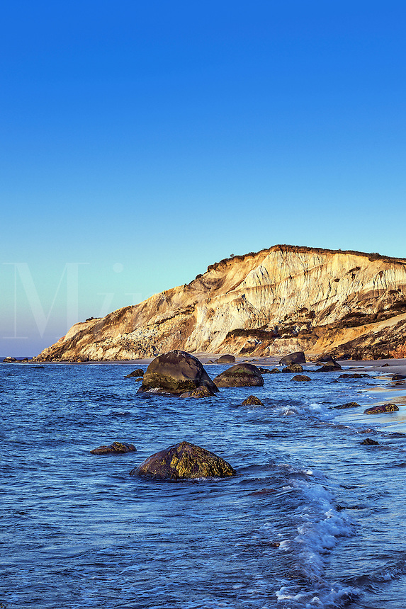 Gay Head cliffs from Moshup beach, Aquinnah, Martha's Vineyard, Massachusetts, USA