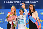Miguel Angel Lopez Moreno (COL) Astana Pro Team retains the young riders Maglia Bianca at the end of Stage 19 of the 2019 Giro d'Italia, running 151km from Treviso to San Martino di Castrozza, Italy. 31st May 2019<br /> Picture: Massimo Paolone/LaPresse | Cyclefile<br /> <br /> All photos usage must carry mandatory copyright credit (© Cyclefile | Massimo Paolone/LaPresse)