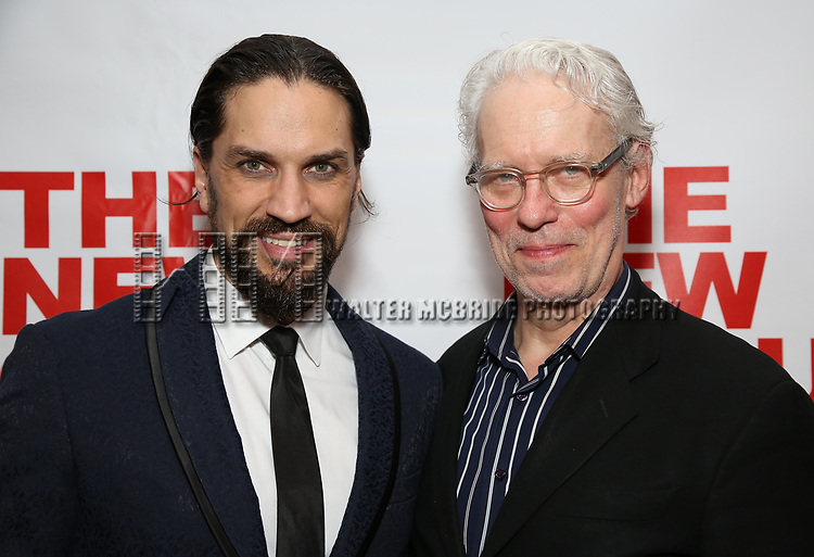 """Will Swenson and Terrence Mann attends the Off-Broadway Opening Night Premiere of  """"Jerry Springer-The Opera"""" on February 22, 2018 at the Roundabout Rehearsal Studios in New York City."""