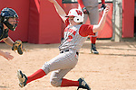 MADISON, WI - APRIL 15: Catcher Joey Daniels #3 of the Wisconsin Badgers slides into home plate against the Purdue Boilermakers at the Goodman Diamond softball field on April 15, 2007 in Madison, Wisconsin. (Photo by David Stluka)