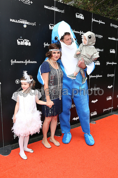 30 October 2016 - Hollywood, California - Tiffani Thiessen, Brady Smith, Harper Smith, Holt Smith. GOOD+ Foundation 1st Annual Halloween Bash held at Sunset Gower Studios. Photo Credit: PMA/AdMedia