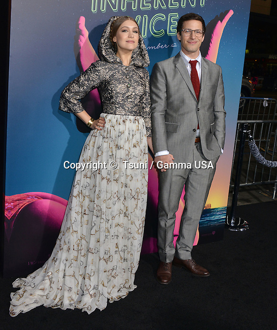 Joanna Newsom, Andy Samberg 159 at the  Inherent Vice  Premiere at the TCL Chinese Theatre in Los Angeles.