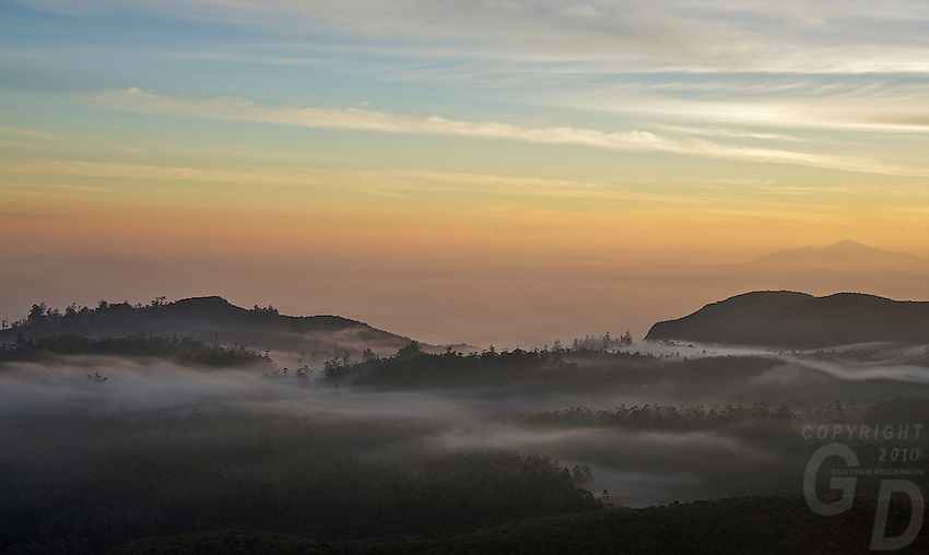 "Sunrise over the Mountains and valley's at ""World's End"" Nuwara Eliya, Sri Lanka"
