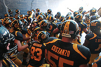 Cal Football in the tunnel before running onto the field. The California Golden Bears defeated the Colorado Buffaloes 52-7 at Memorial Stadium in Berkeley, California on September 11th, 2010.