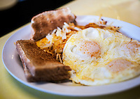 Egg breakfast at Daylight Donuts in Breckenridge, Colorado, Thursday, March 22, 2012...Photo by Matt Nager