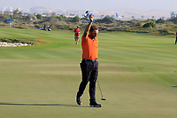 Joost Luiten (NED) in action during the final round of the NBO Open played at Al Mouj Golf, Muscat, Sultanate of Oman. <br /> 18/02/2018.<br /> Picture: Golffile | Phil Inglis<br /> <br /> <br /> All photo usage must carry mandatory copyright credit (&copy; Golffile | Phil Inglis)
