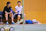 (L-R) Ayaka Takahashi, Ayane Kurihara (JPN), JULY 19, 2016 - Badminton : Training for Rio Olympic Games in Tokyo, Japan. (Photo by Sho Tamura/AFLO SPORT)